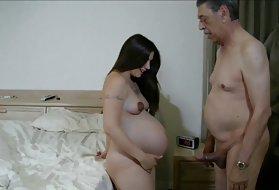 路肛门DP爱的我怀孕的美丽的裸体的猫